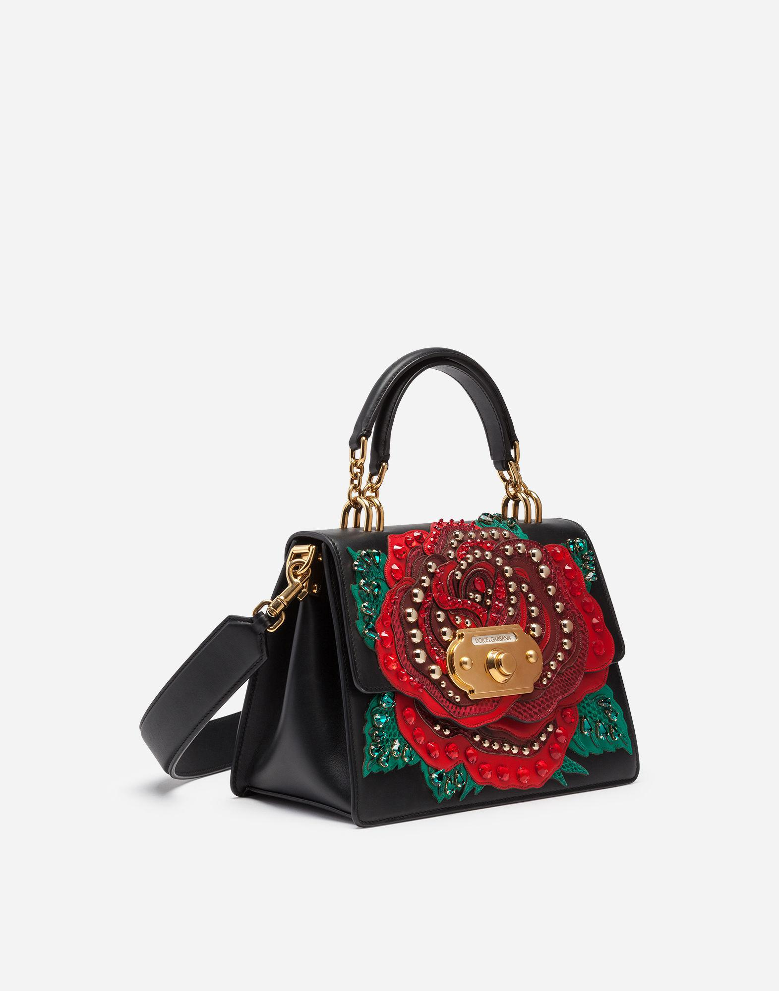 2f2d7ef4452 Lyst - Dolce   Gabbana Welcome Shoulder Bag In Calfskin And Appliqués in  Black