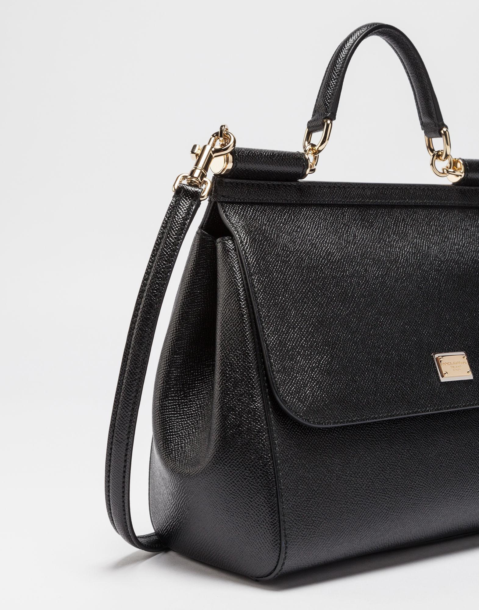 a0b34ea6aa92 Lyst - Dolce   Gabbana Borsa A Mano in Black