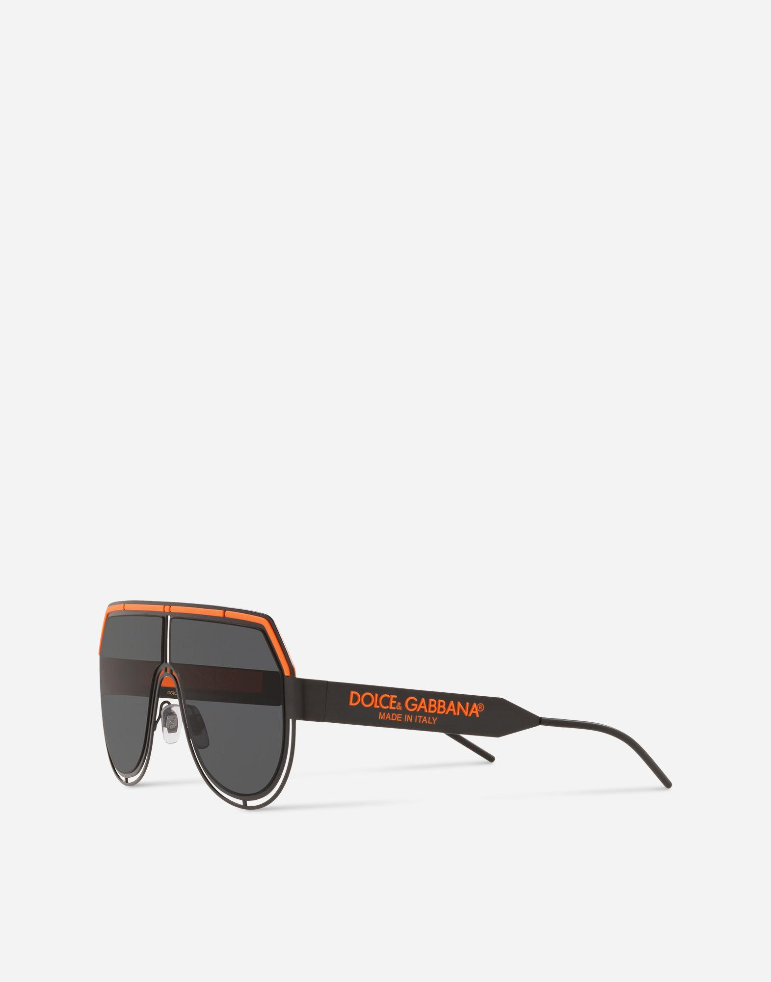 d1a49440ee866 Lyst - Dolce   Gabbana Dg Logo Sunglasses in Black