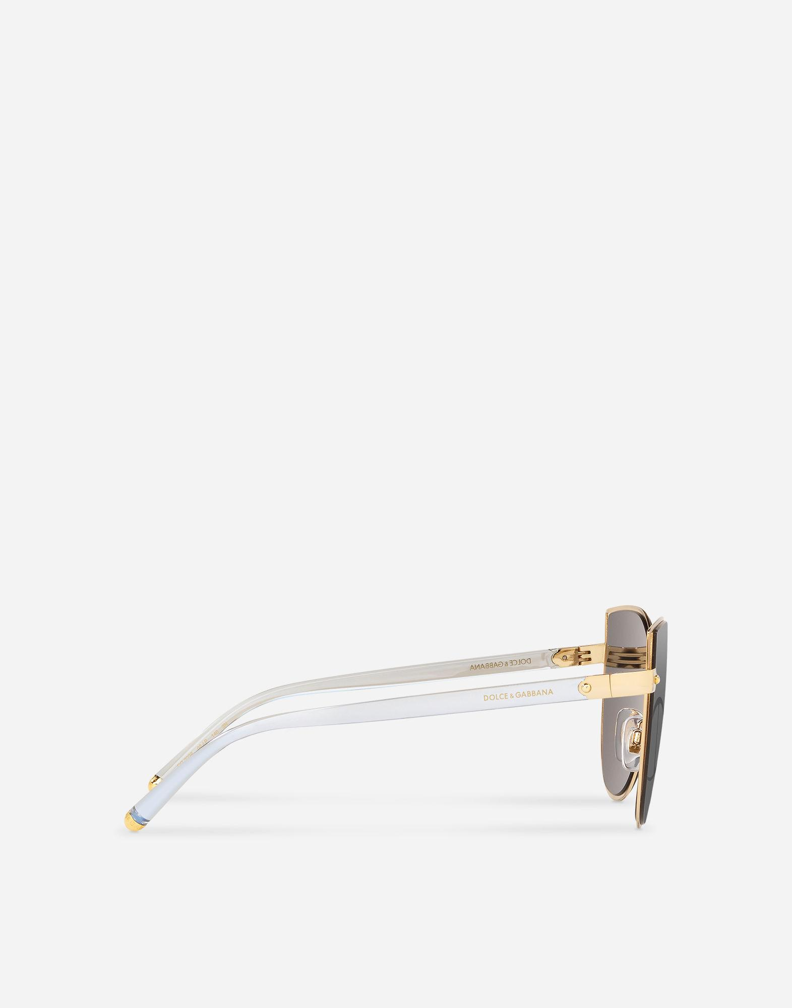 2a830c7a7f747 Dolce   Gabbana Dg Logo Sunglasses in Metallic - Lyst