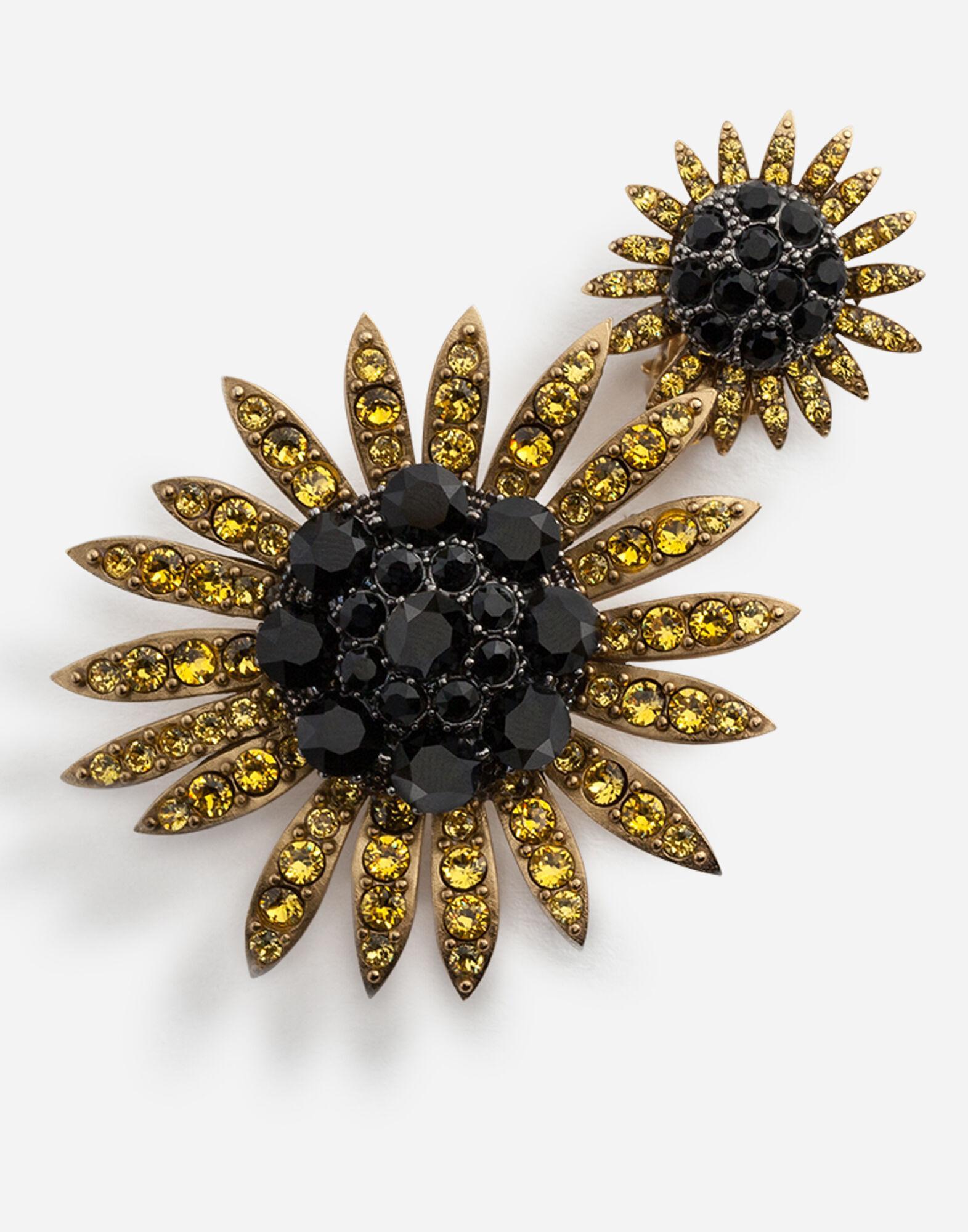 bc67943c0 Dolce & Gabbana Drop Earrings With Decorative Rhinestone Details in Metallic  - Lyst