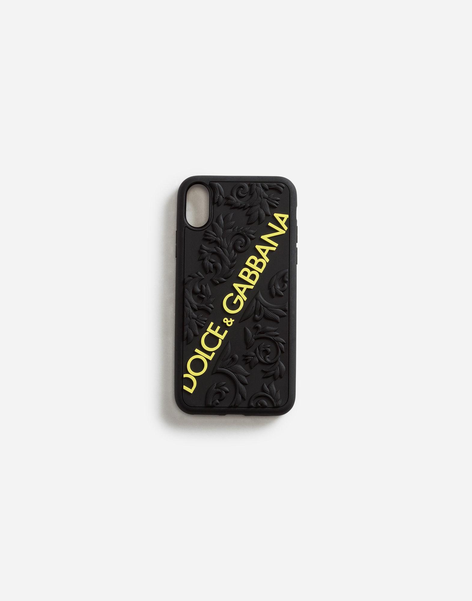Dolce & Gabbana - Cover iphone x max in gomma con logo - Nero