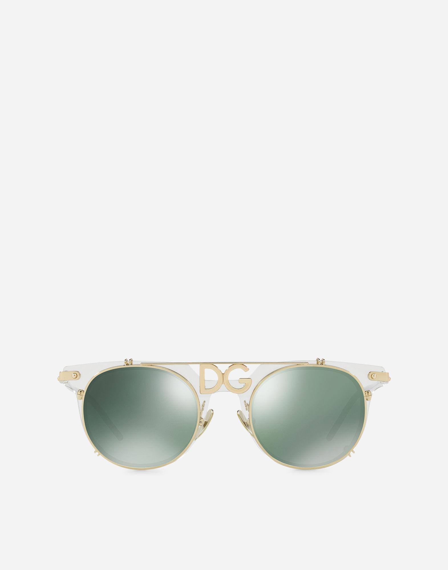 Lyst - Dolce & Gabbana Panthos Sunglasses With Metal Frame in Metallic
