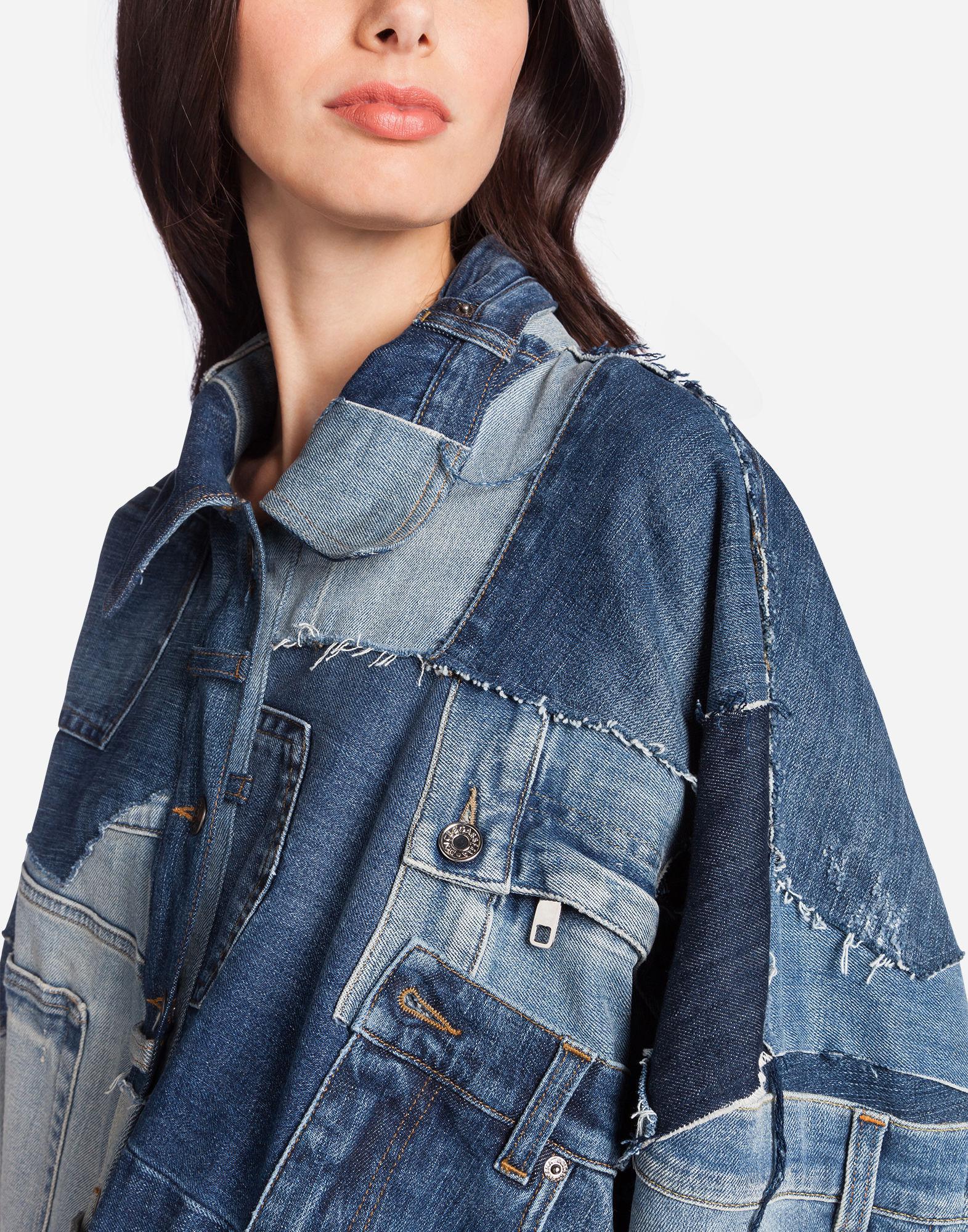 7122fa45e453 Lyst - Dolce   Gabbana Patchwork Denim Jacket in Blue