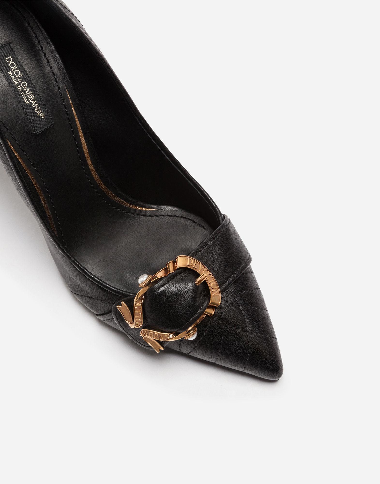 f49de557d99 Lyst - Dolce   Gabbana Devotion Pumps In Matelassé Nappa Leather in Black