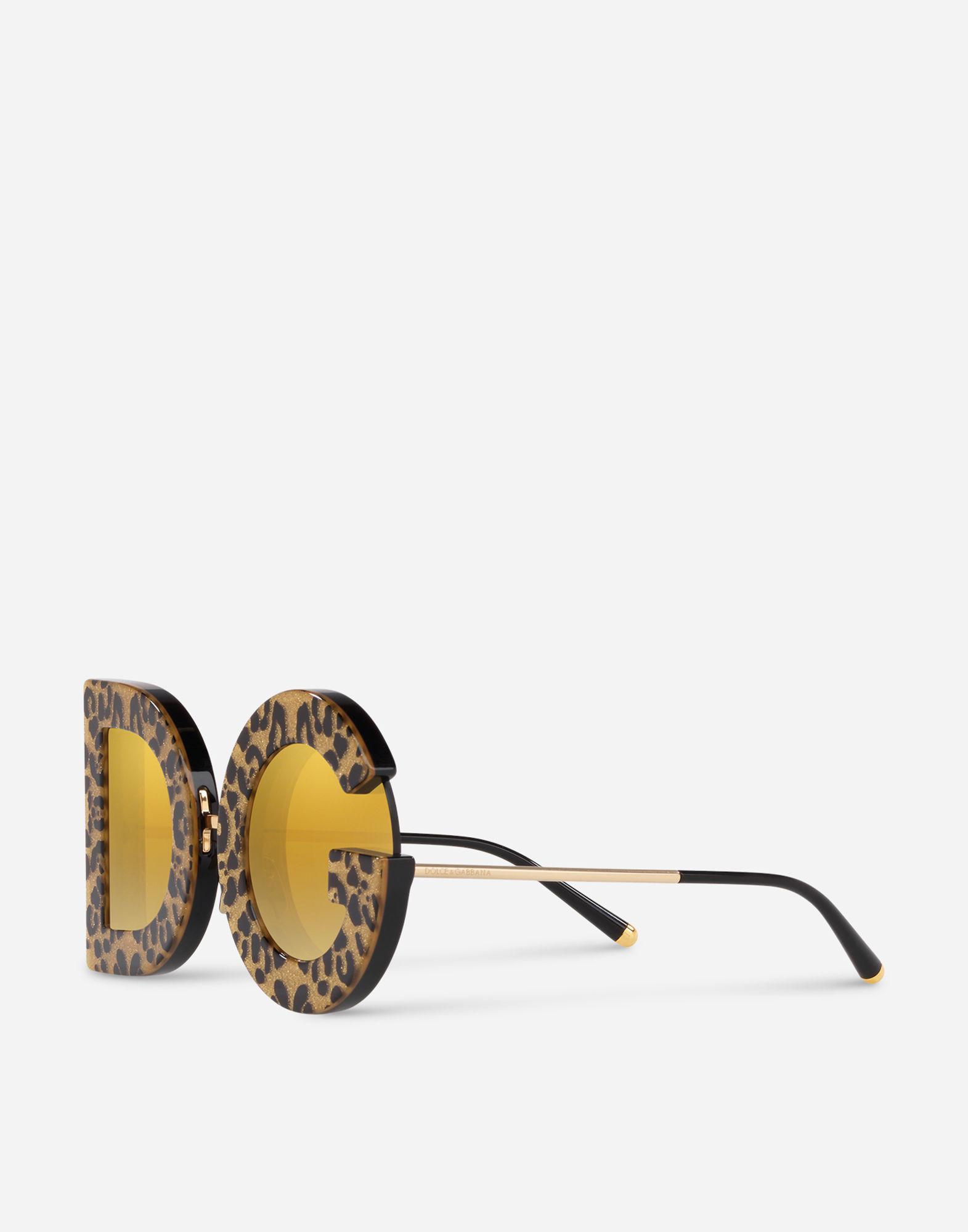 f13962668985 Lyst - Dolce   Gabbana Dg Leo Sunglasses in Metallic