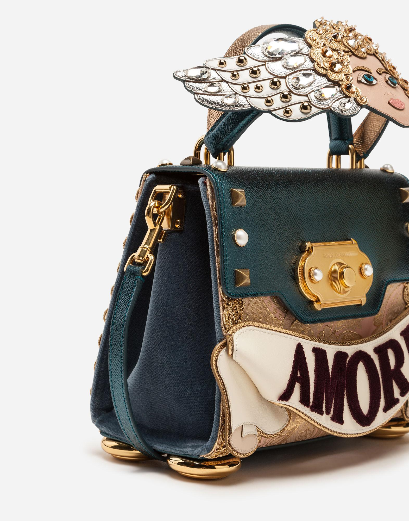 bed8ab879c Lyst - Dolce   Gabbana Medium Welcome Handbag In A Mix Of Materials ...