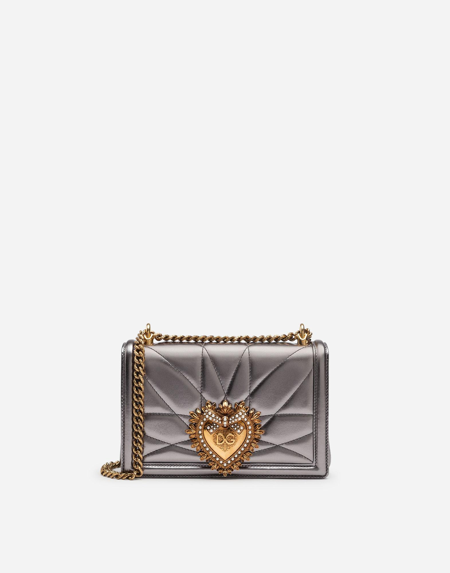 165984374c Dolce   Gabbana. Women s Metallic Medium Devotion Bag In Quilted Nappa  Mordoré