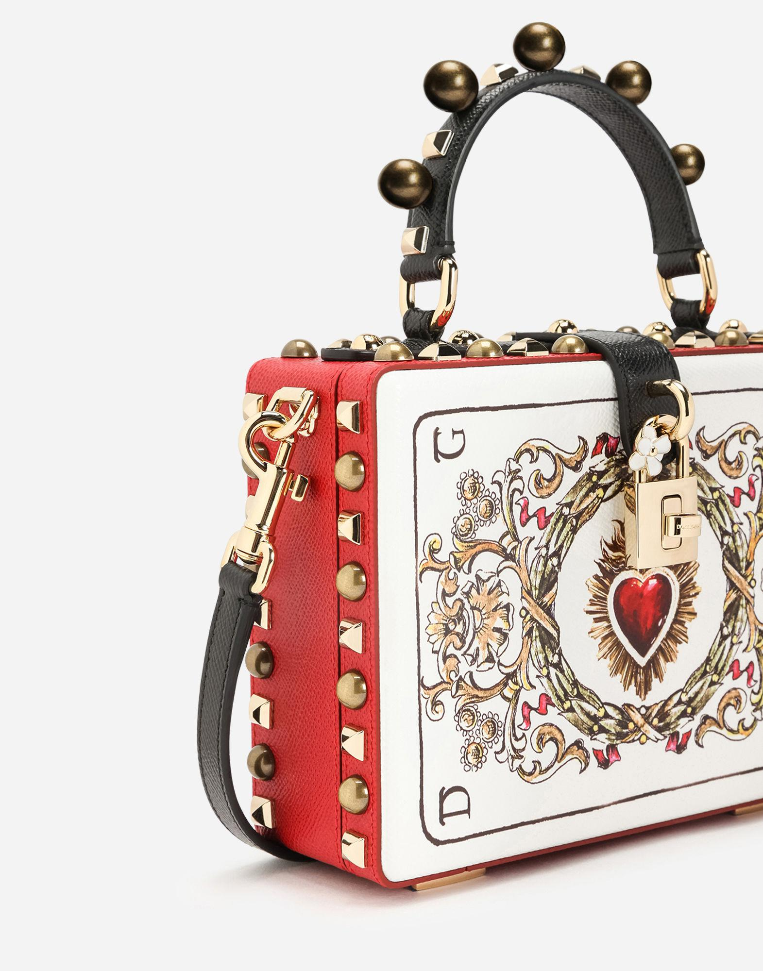 91d46ac6b3 Dolce & Gabbana Dolce Box Bag In Printed Dauphine Calfskin With ...