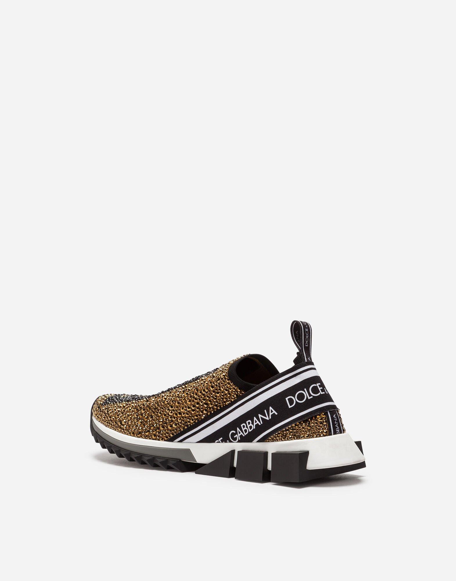 Zapatillas Sorrento Con Cristales Termostrass Dolce & Gabbana de Tejido sintético de hombre