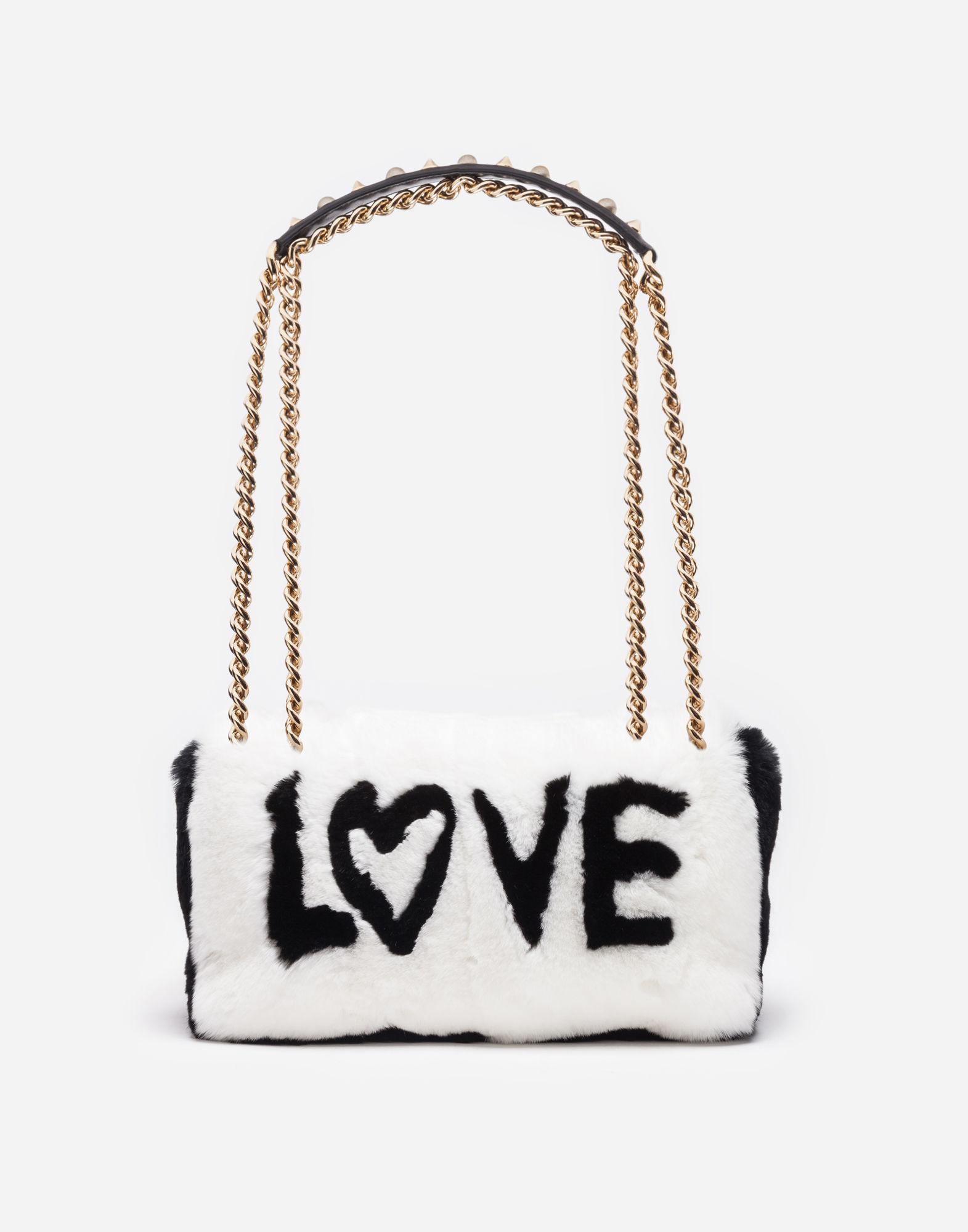 Dolce   Gabbana Fur Lucia Bag in White - Lyst ce7f795efe70e