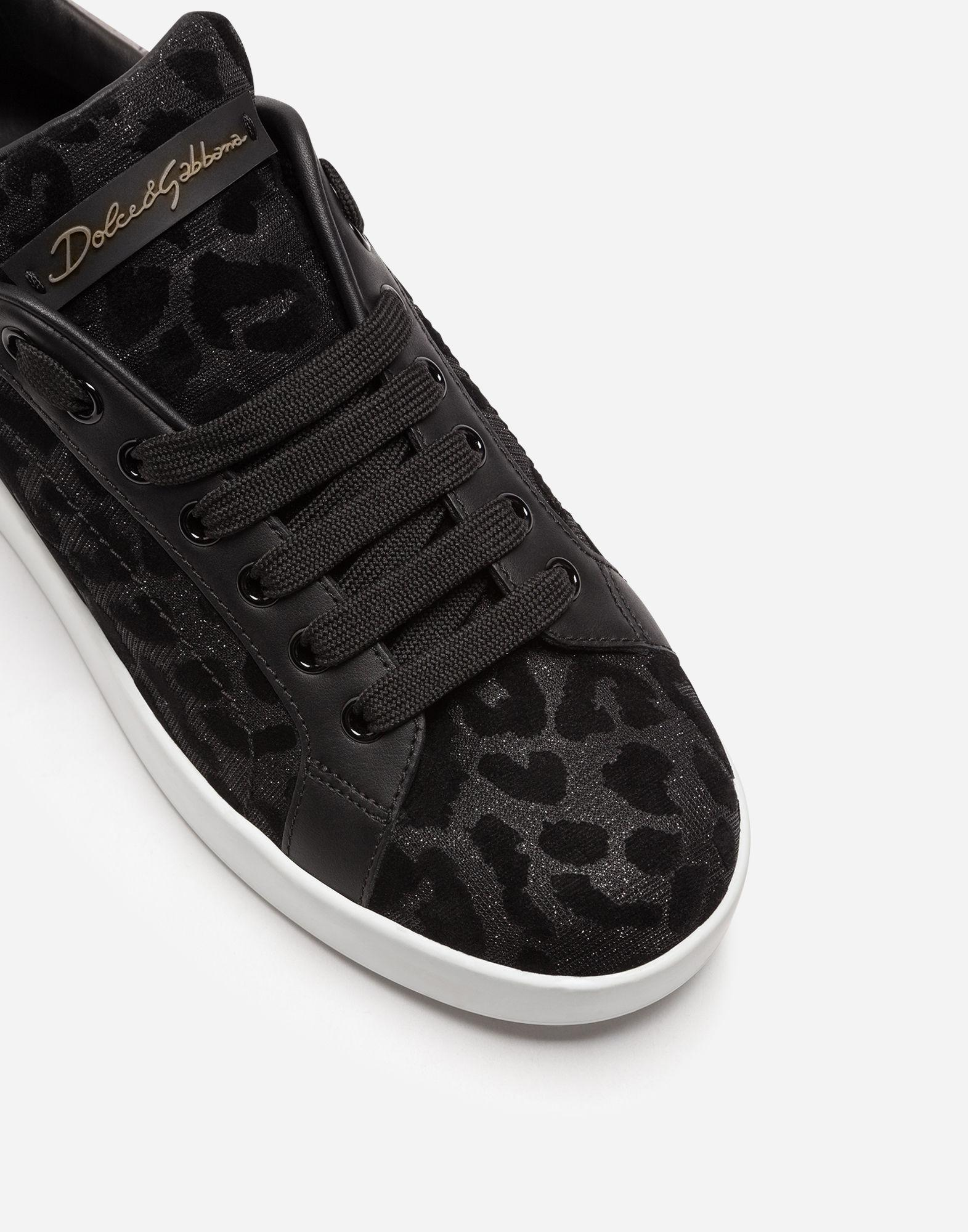 5c59e60176fe Dolce & Gabbana Portofino Sneakers In Color-changing Leopard Fabric ...