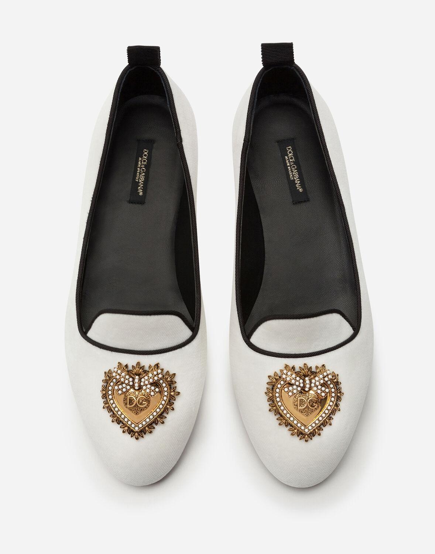 Zapatos Sin Cordones Devotion En Terciopelo Dolce & Gabbana de color Negro