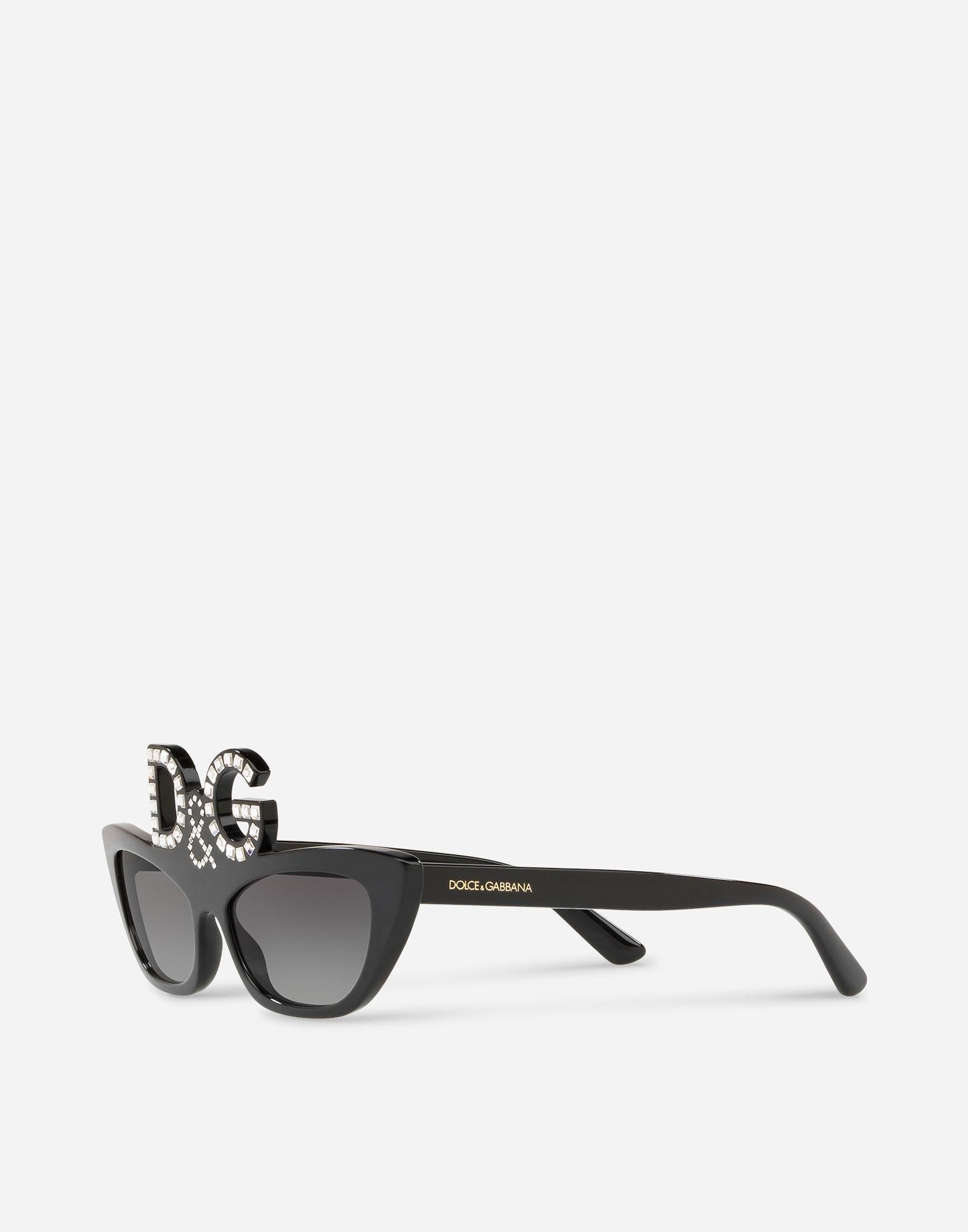 0096f9b5366 Lyst - Dolce   Gabbana Dg Monogram Sunglasses in Black