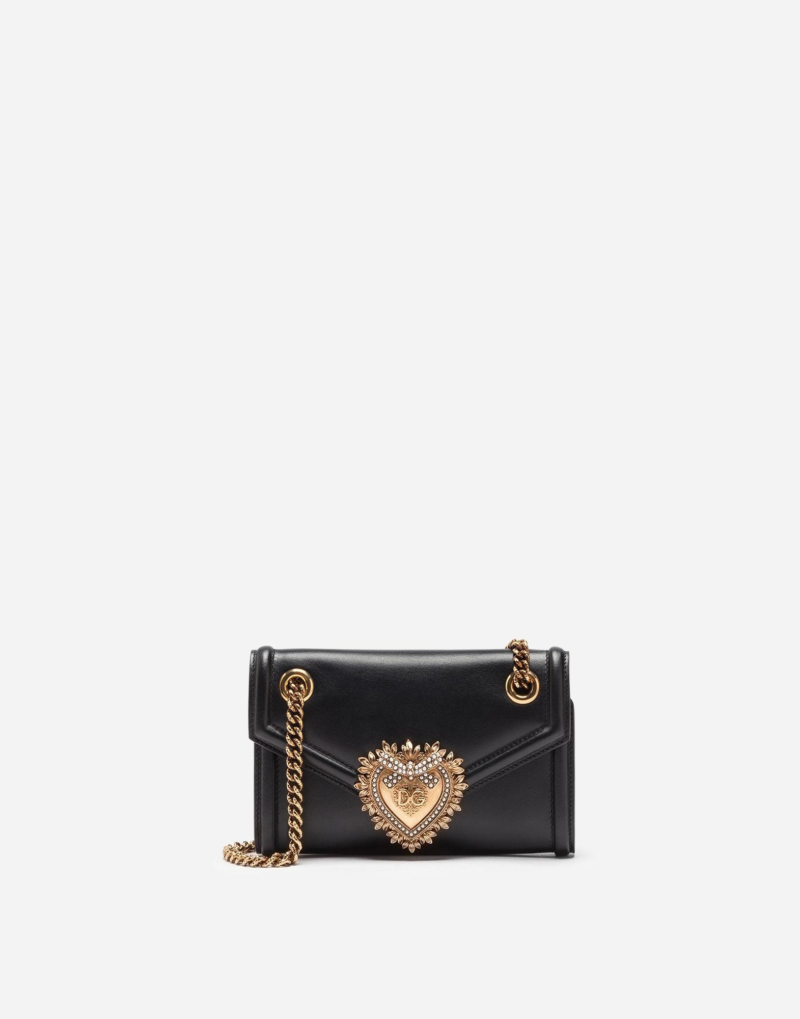 55eead37609c Lyst - Dolce   Gabbana Medium Devotion Shoulder Bag in Black - Save 23%