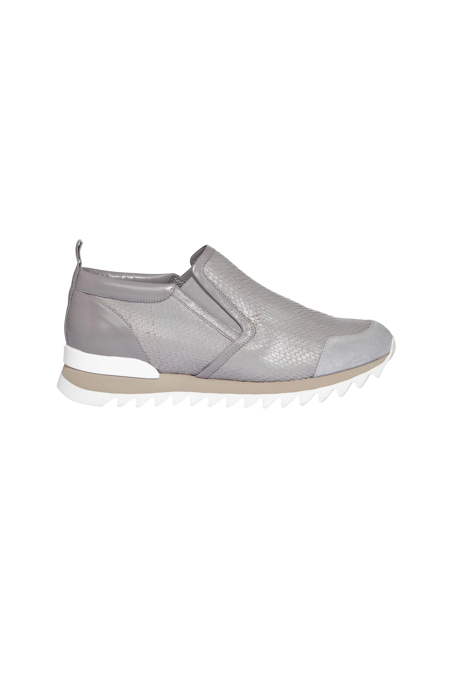 Dorothee Schumacher Suede Sports Chic Textured Sneaker in Grey