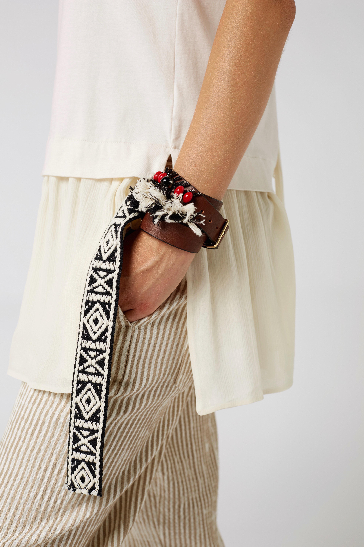DELIGHTFULLY DECORATED branded triple-wrap bracelet Dorothee Schumacher 2jAQ3fkr