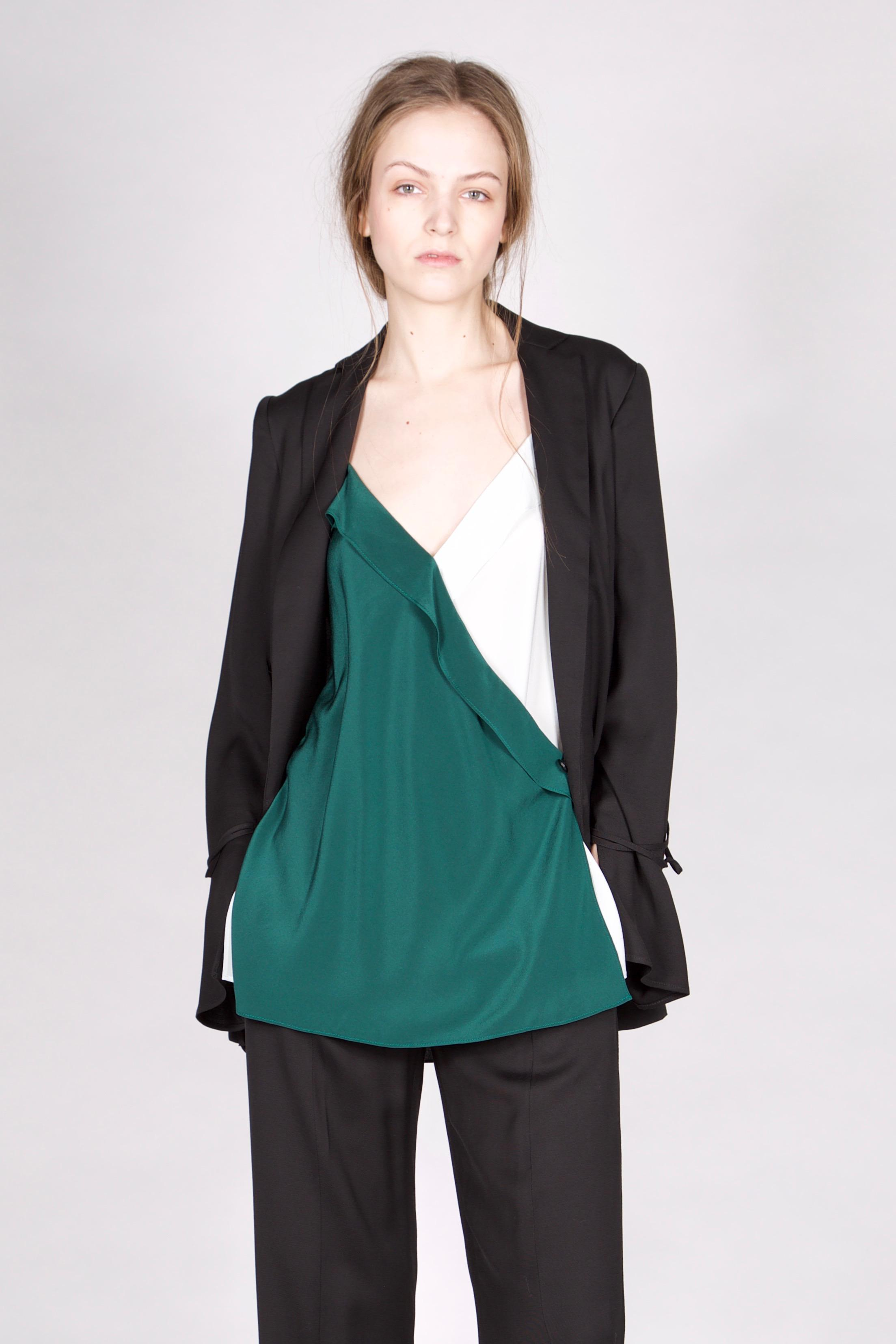 lyst dorothee schumacher dancing movement jacket sleeve 1 1 in black. Black Bedroom Furniture Sets. Home Design Ideas