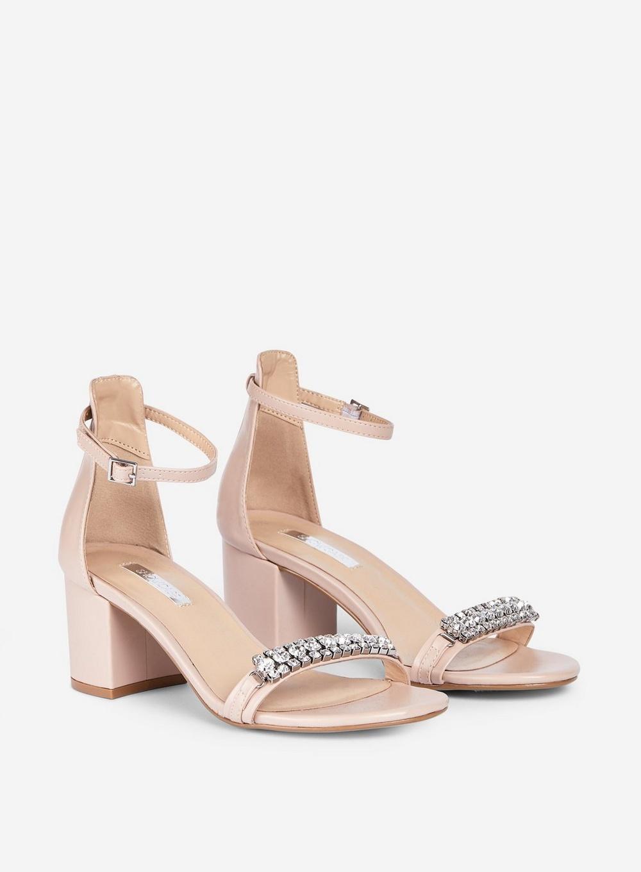 e0d05f31381 Dorothy Perkins Showcase Nude Pu 'sapphire' Sandals in White - Lyst