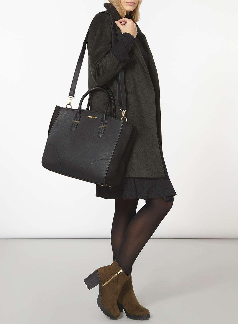 004b5bd7a15a Lyst - Dorothy Perkins Black Oversized Tote Bag in Black