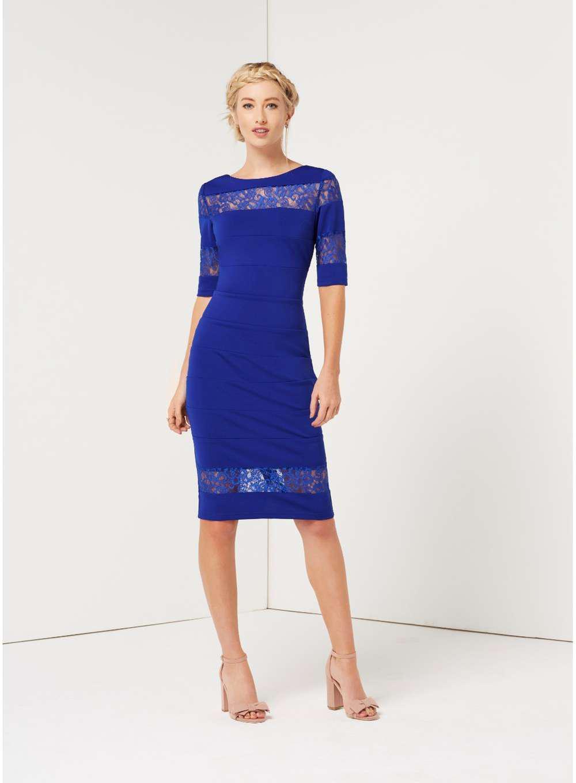 dec3fd2246 Dorothy Perkins Paper Dolls Cobalt Lace Dress in Blue - Lyst