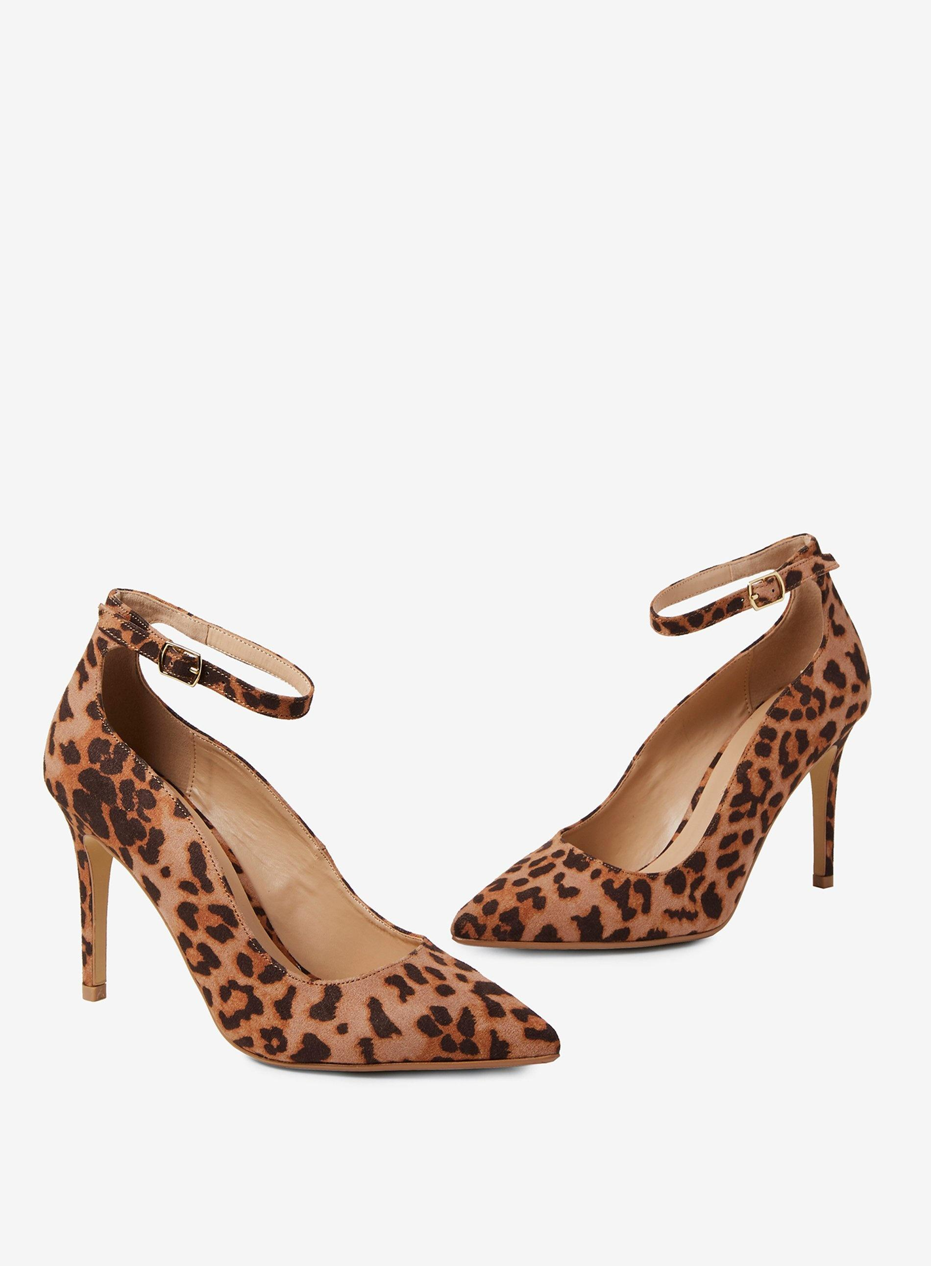 223eb24816 Dorothy Perkins - Brown Leopard Print Microfibre 'dolly' Court Shoes -  Lyst. View fullscreen