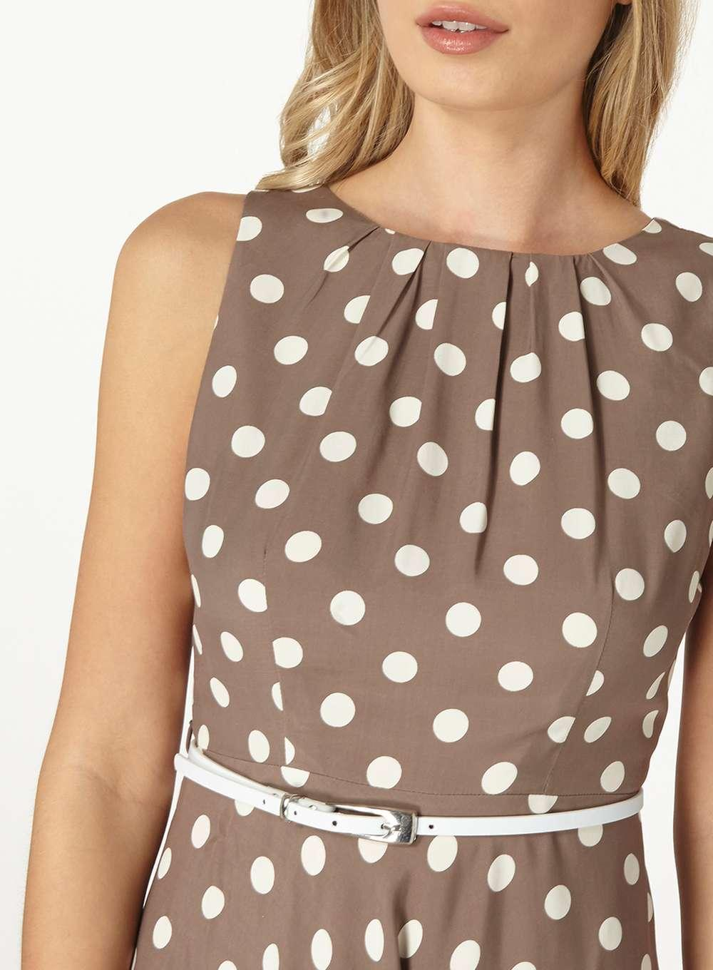 226690509b9 Dorothy Perkins Brown Billie & Blossom Taupe Spotted Dress