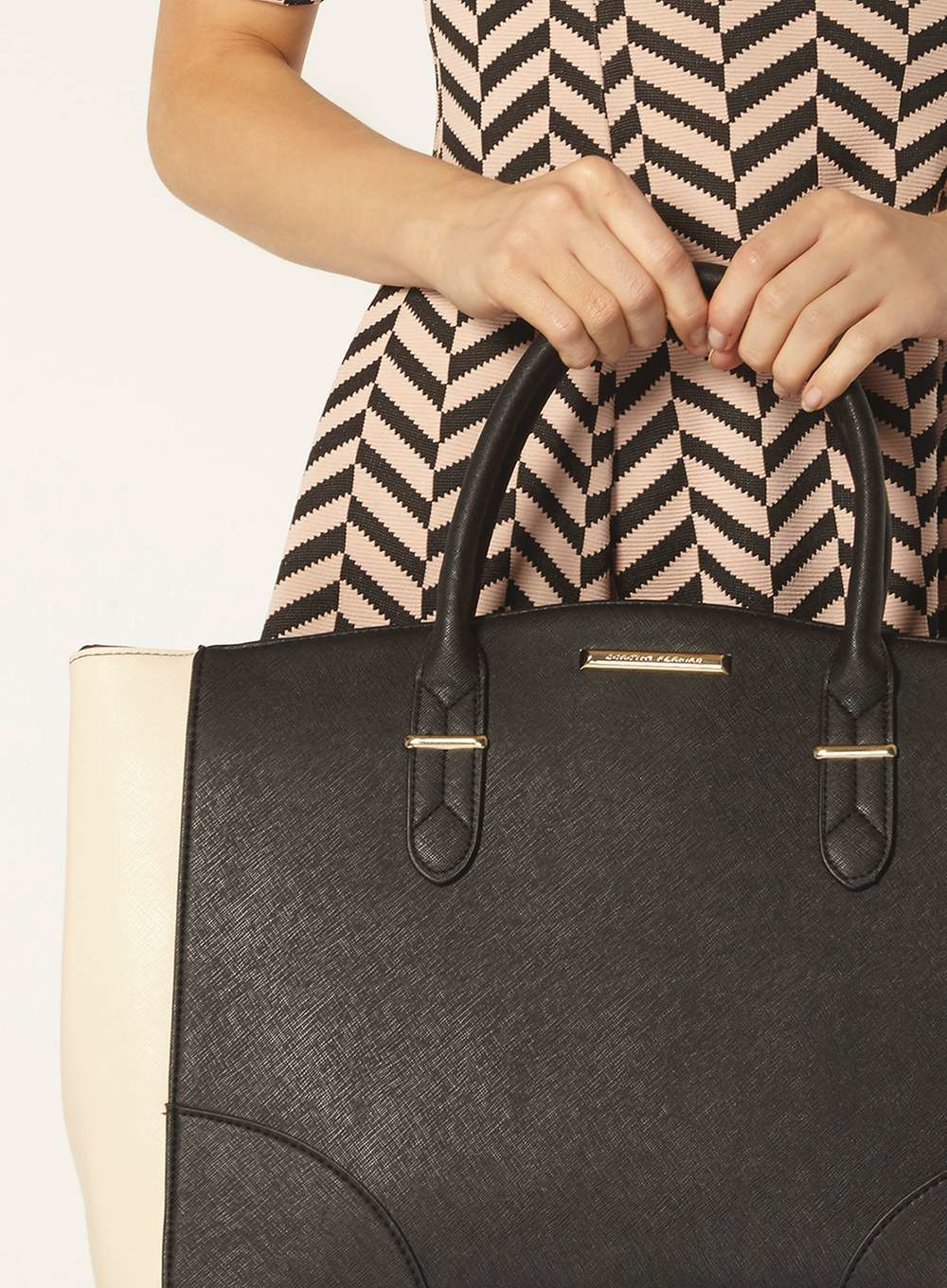 Dorothy Perkins Black And Bone Oversized Tote Bag