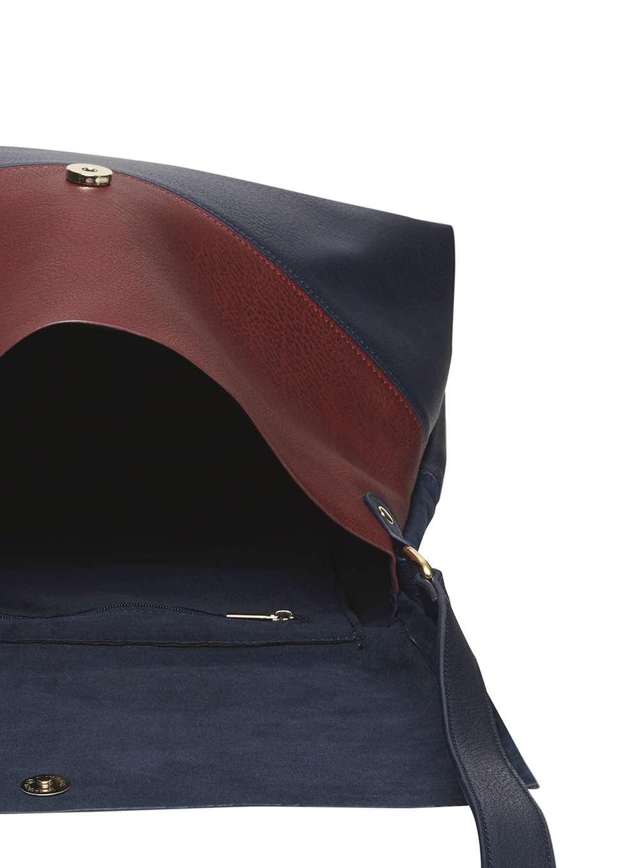 Dorothy Perkins Navy Faux Suede Crossbody Bag in Blue