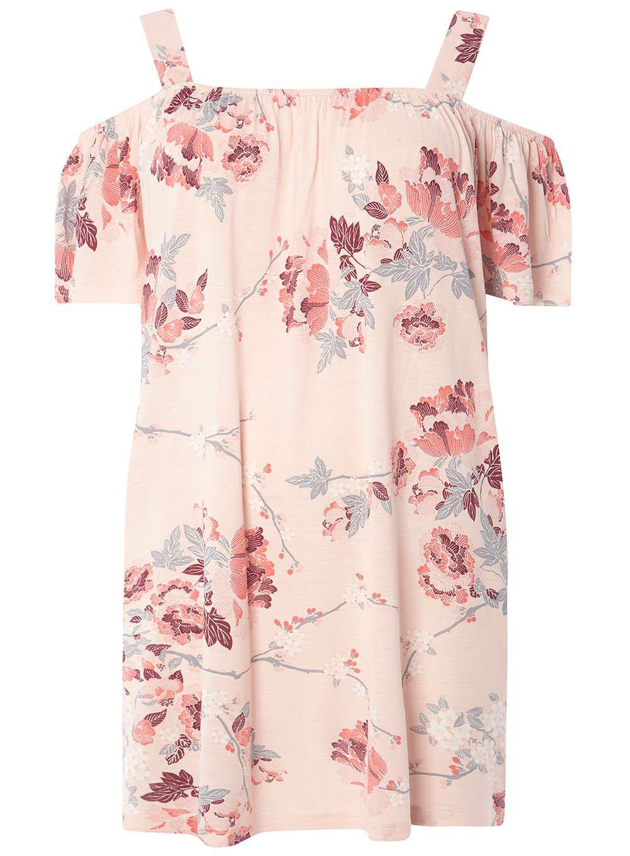 082adb1f1 Dorothy Perkins Dp Curve Oriental Floral Bardot Top in Pink - Lyst
