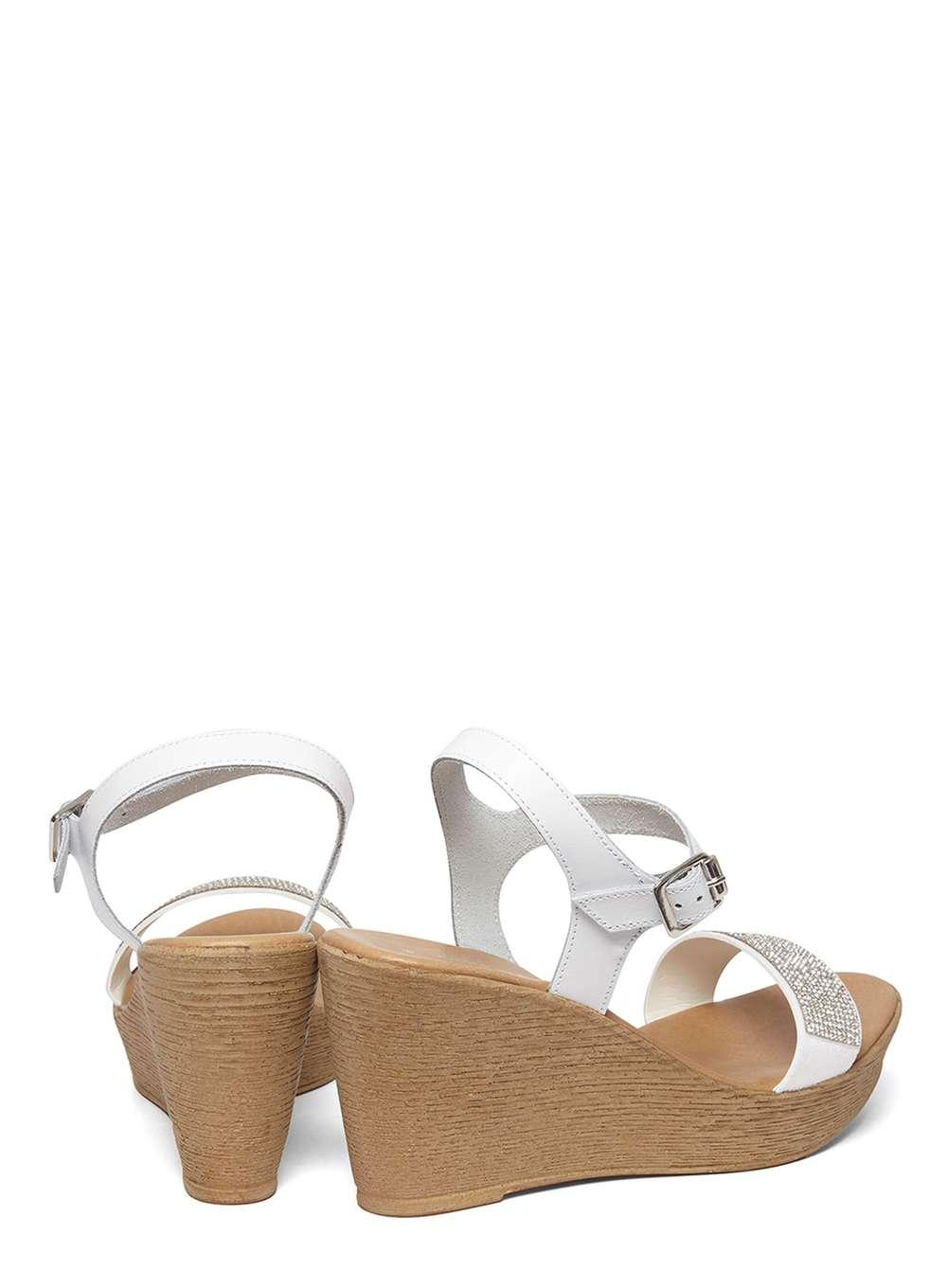 dorothy perkins white roe comfort wedges in white lyst