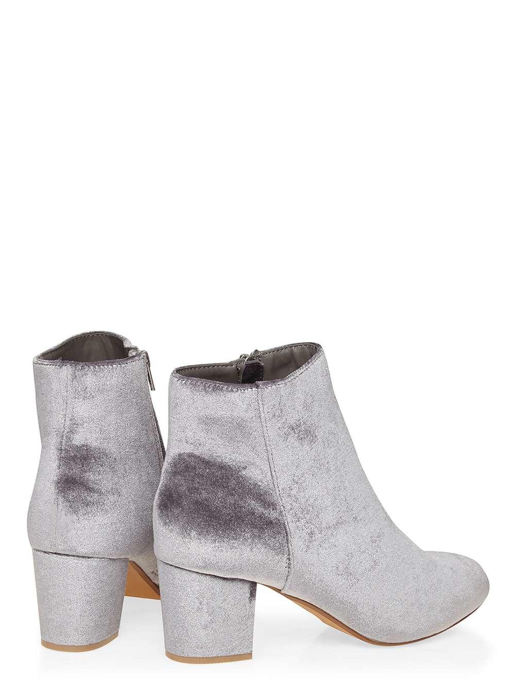 Dorothy Perkins Grey Velvet 'a-lister' Boots in Grey