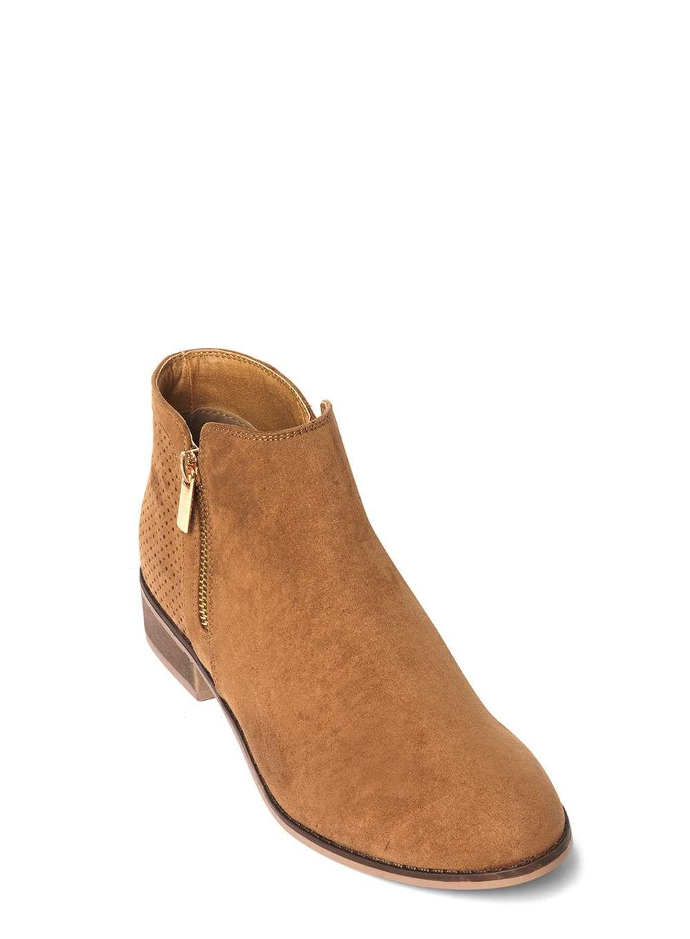 Dorothy Perkins Tan 'manta' Zip Ankle Boots in Brown