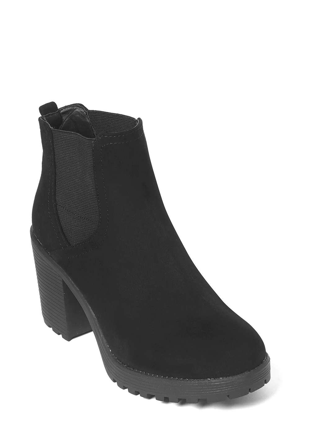 Dorothy Perkins Black 'minny' Chunky Ankle Boots