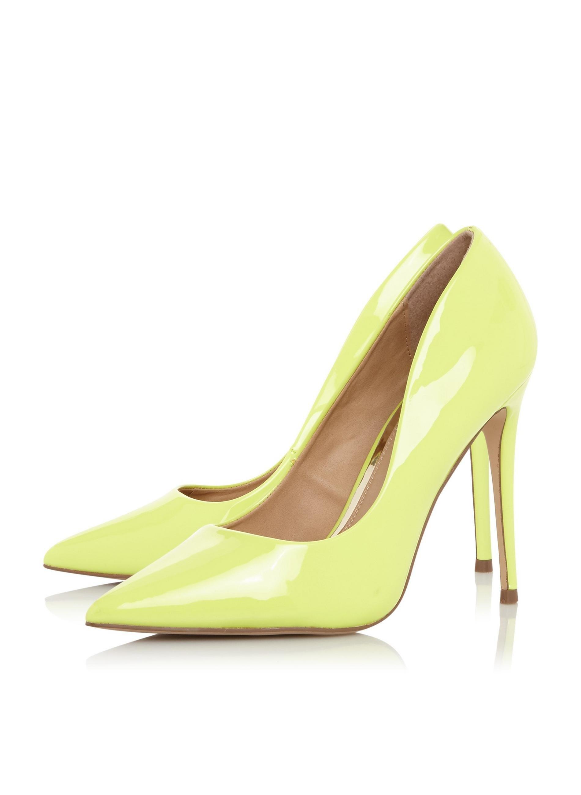 e8fb202a1dd80 ... Dune Lime 'aimees' Court Shoes - Lyst. View fullscreen