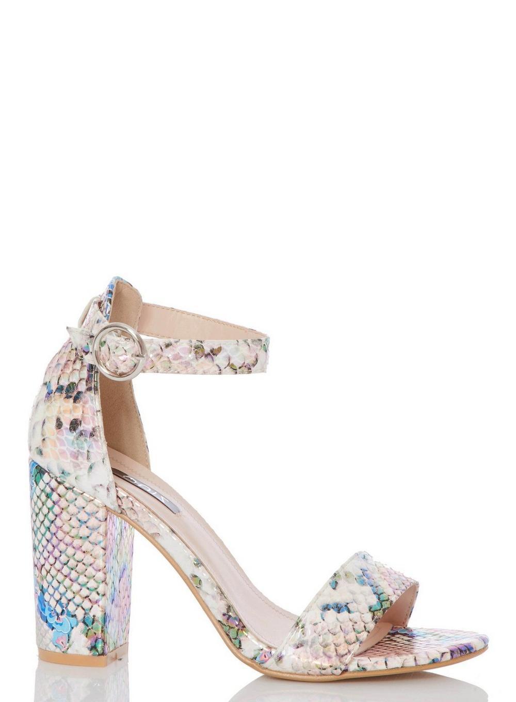 c85f33d7e Dorothy Perkins. Women's Quiz Multi Coloured Snake Print Heel Sandals