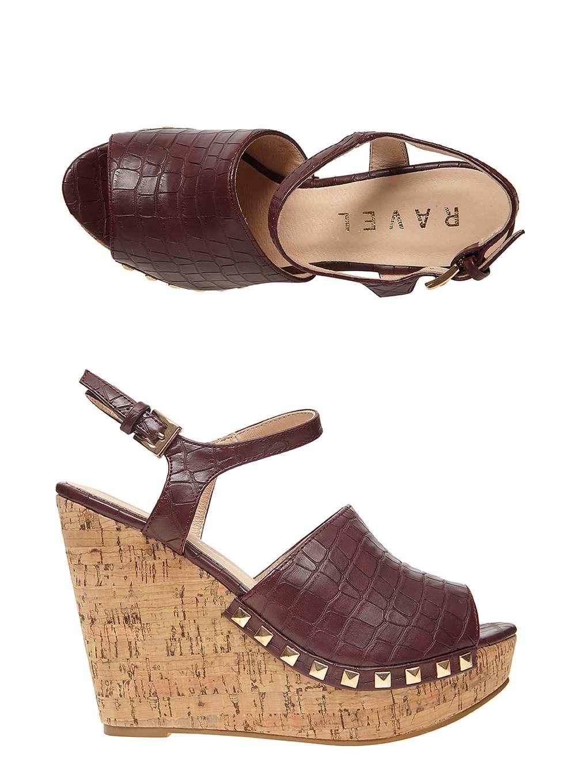dorothy perkins ravel brown cork wedge sandals in purple