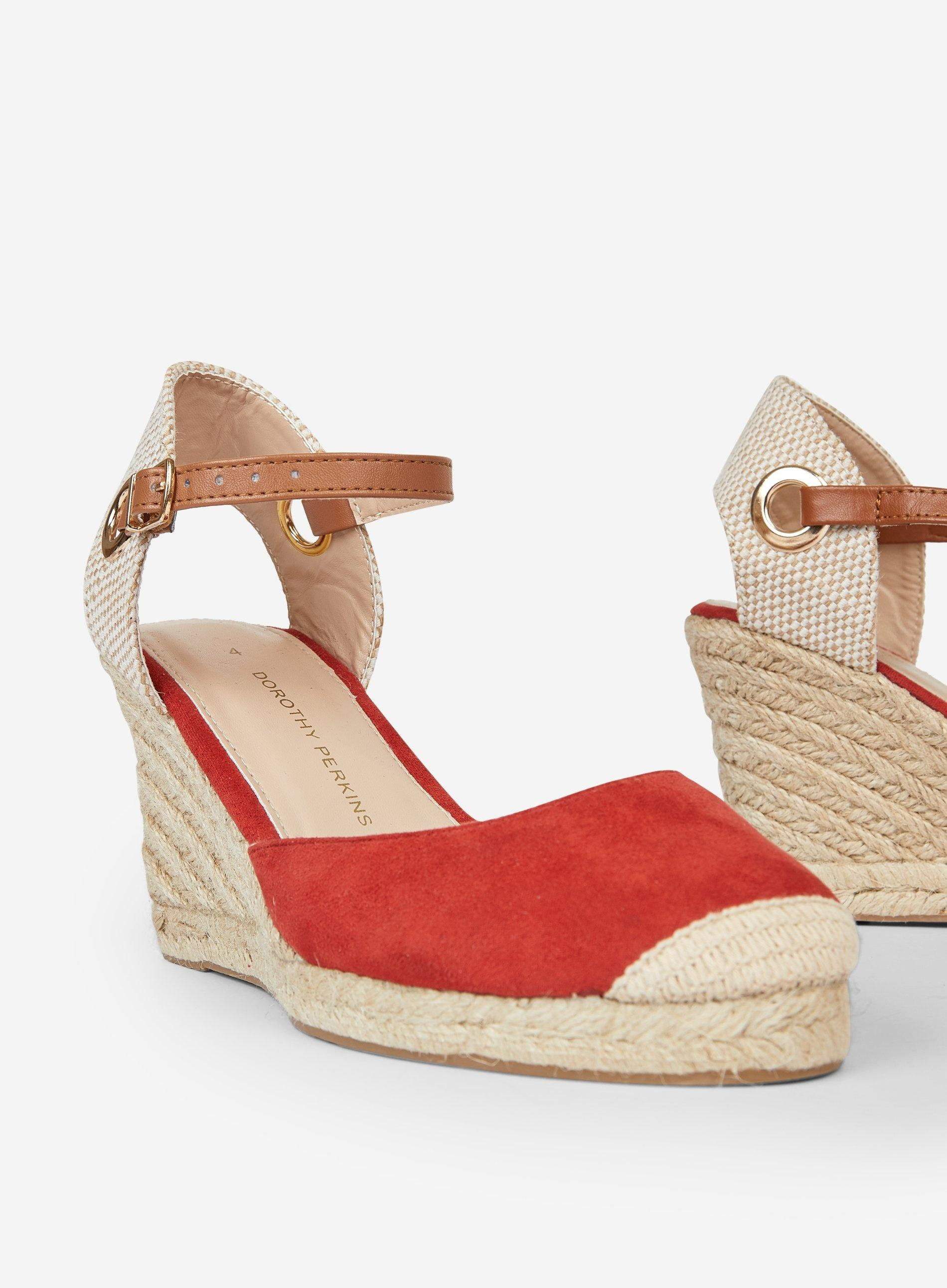 6cfcfcad13 Dorothy Perkins - Wide Fit Red 'raya' Espadrille Wedges - Lyst. View  fullscreen