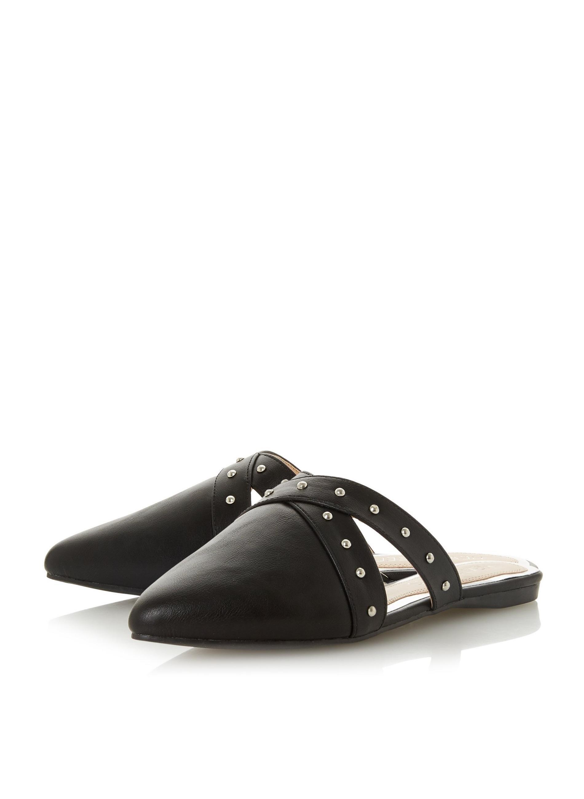 2094c0d686c ... Head Over Heels By Dune Black  harria  Ladies Flat Sandals -. View  fullscreen