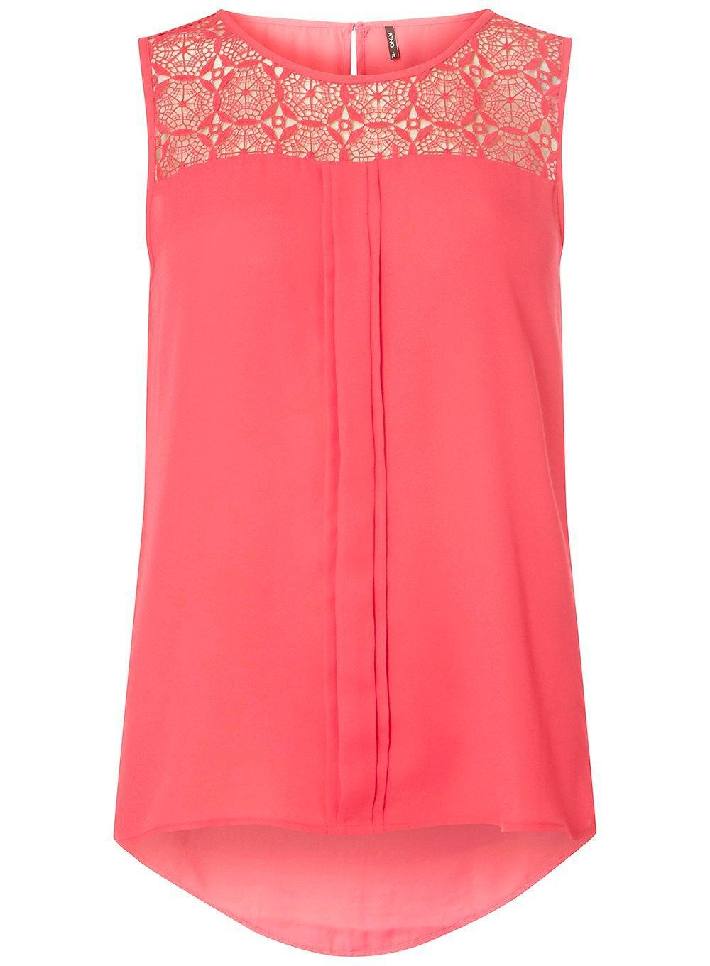 Dorothy Perkins Womens **Only Lace Yoke Top- Cheap Sale Really Affordable Cheap Price Cheap Sale Exclusive NmQIh5XAK9