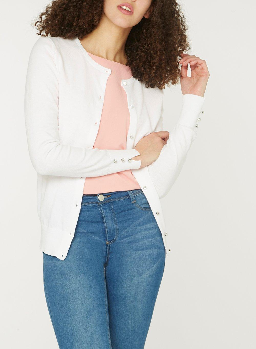 62598b93368 Dorothy Perkins Tall White Core Cardigan in White - Lyst