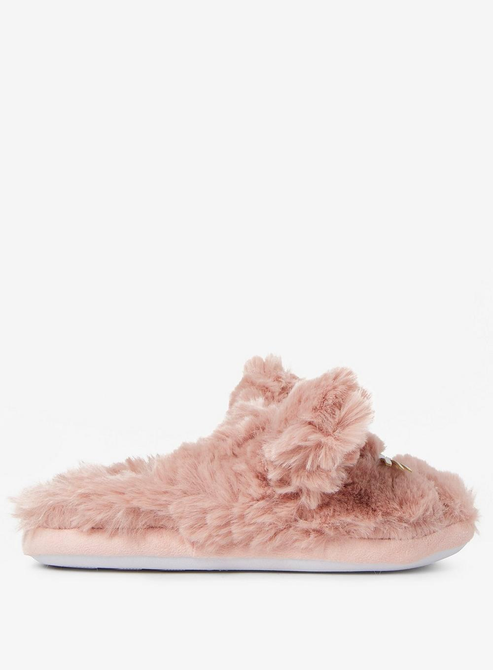 733abe7b6486 Lyst - Dorothy Perkins Blush Cat Fluffy Mule Slippers in Pink