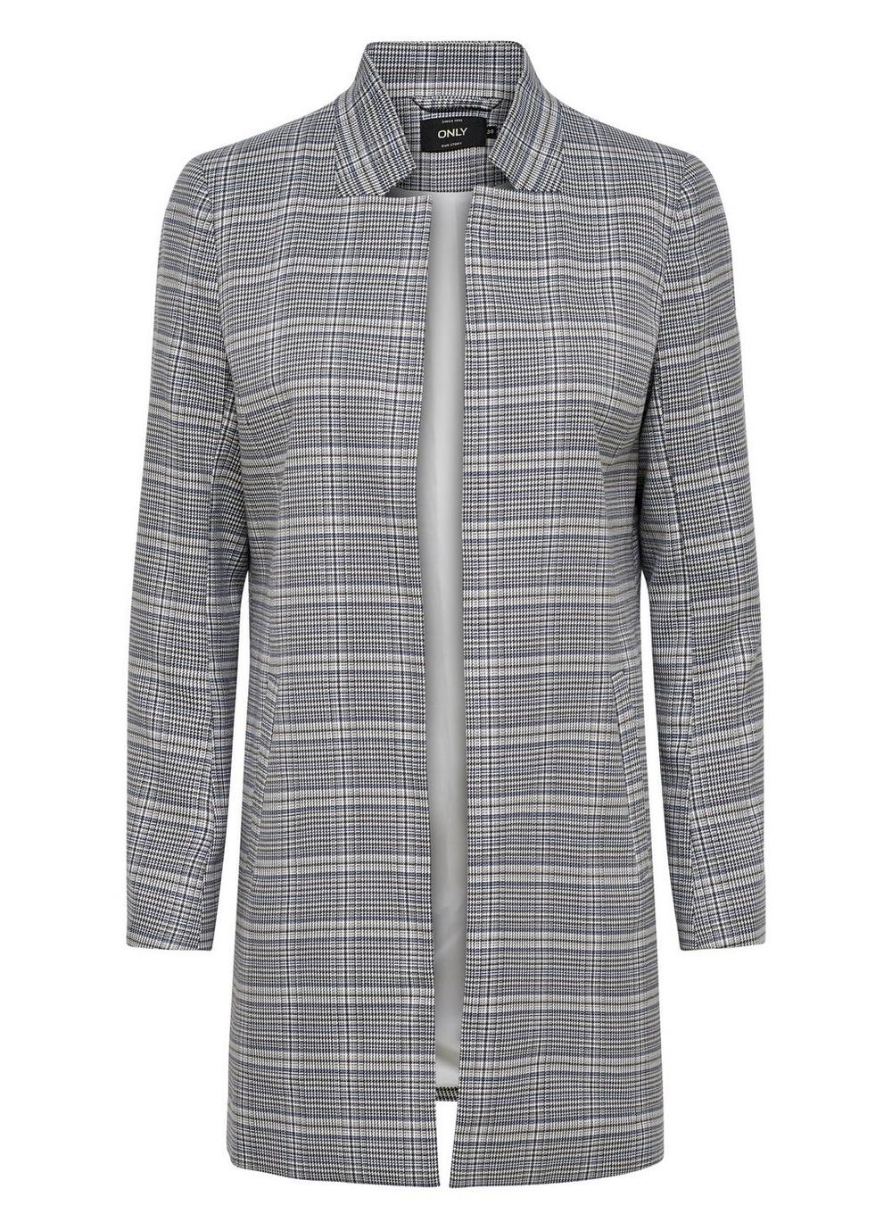 5b379283e11 Lyst - Dorothy Perkins Only Grey Longline Rib Textured Jacket in Gray
