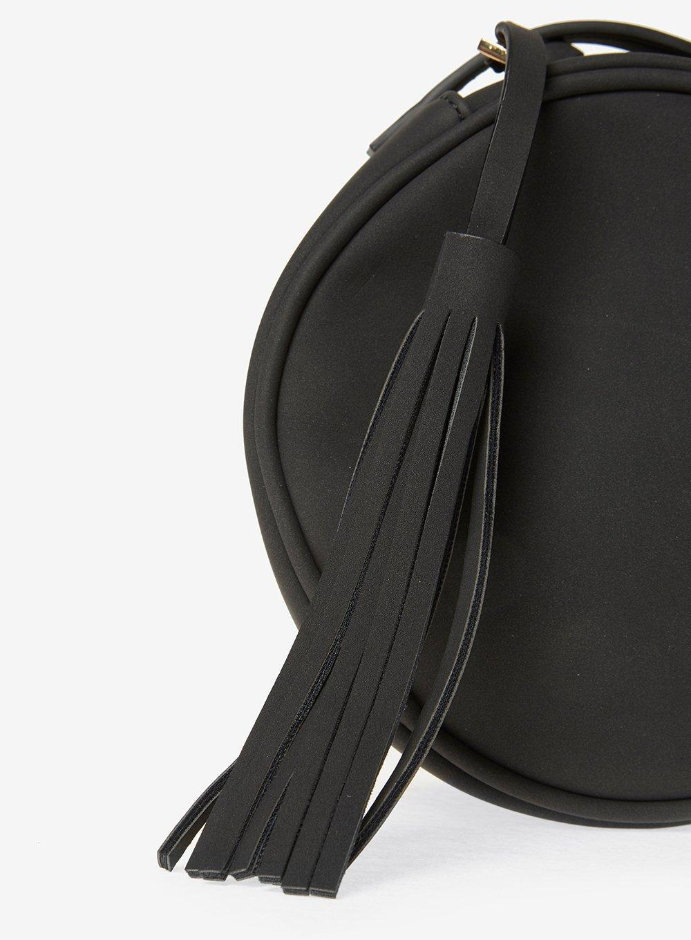 Dorothy Perkins Pieces Black Circle Cross Body Bag