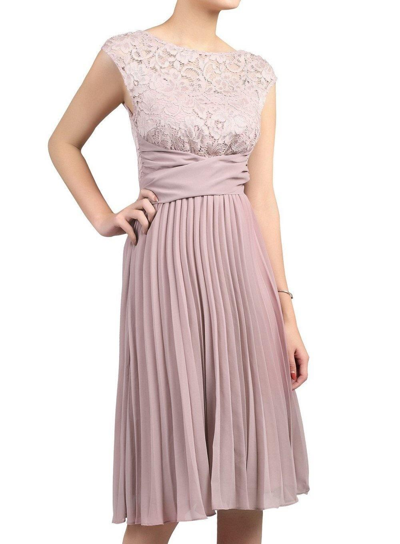 d8c3ffc1ea Jolie Moi - Purple Mauve Lace Pleated Dress - Lyst. View fullscreen