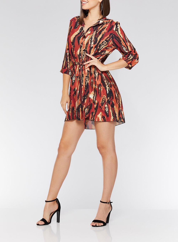 3d15f411628d Dorothy Perkins - Red Quiz Multi Colour Print Shirt Dress - Lyst. View  fullscreen