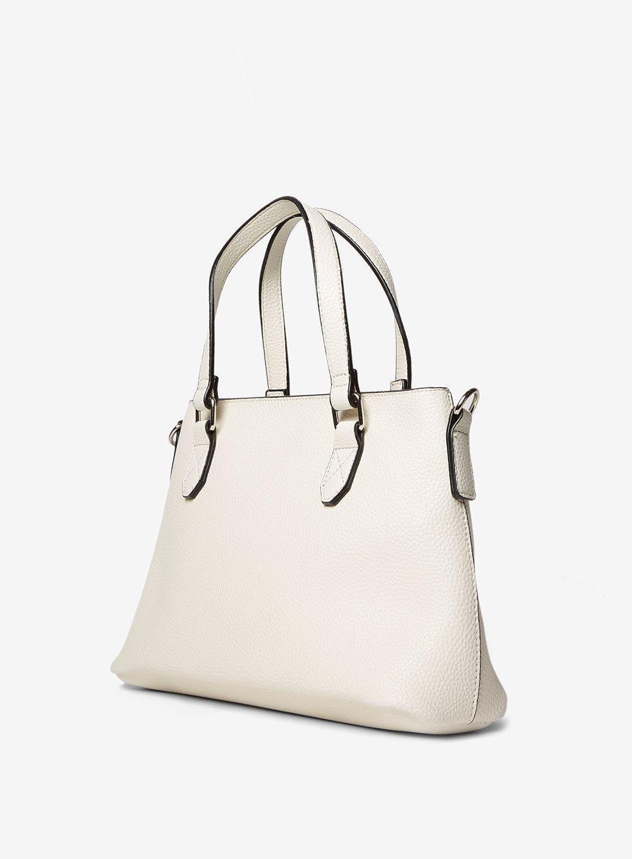 Dorothy Perkins White Mini Trapeze Tote Bag