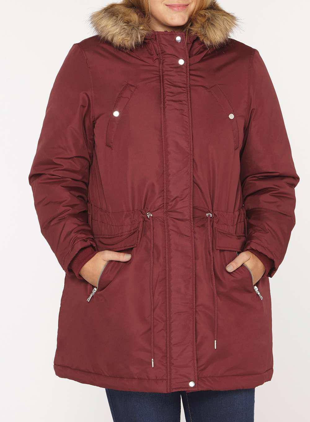 To Buy Dorothy Perkins Womens **Juna Rose Curve Faux Fur Hoodded Parka- Where Can I Order New Sale Online Fake Sale Online RVumwikY7