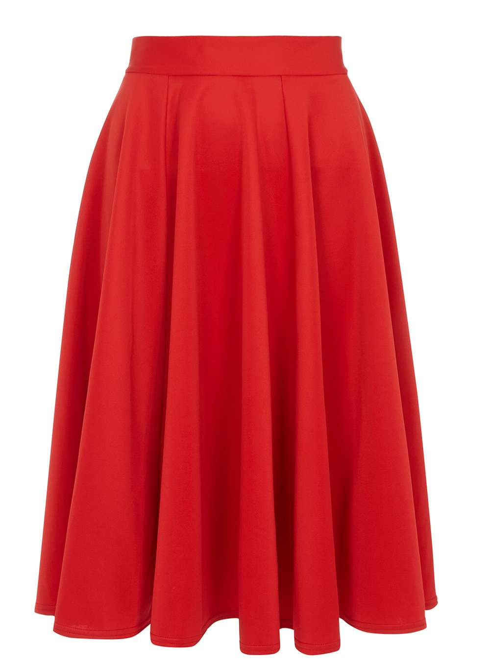 Dorothy Perkins Closet Curve Red Panel Midi Skirt In Red