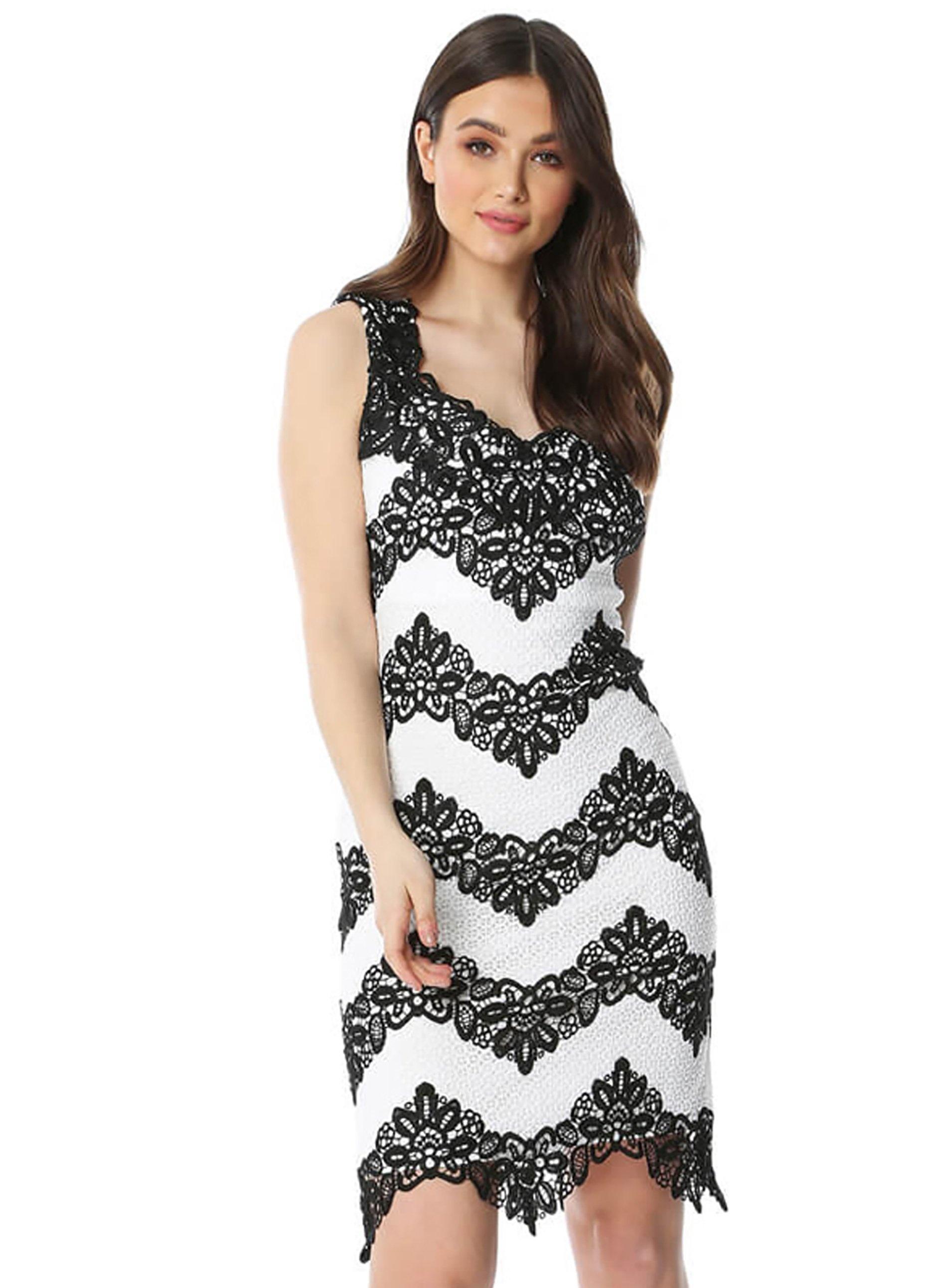 b5c44f3b2e Dorothy Perkins Roman Originals White Zig Zag Lace Dress in White - Lyst